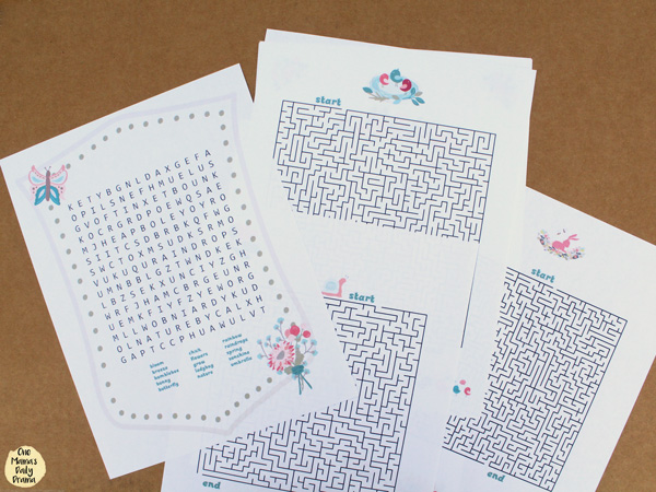 spring activity journal word search and mazes