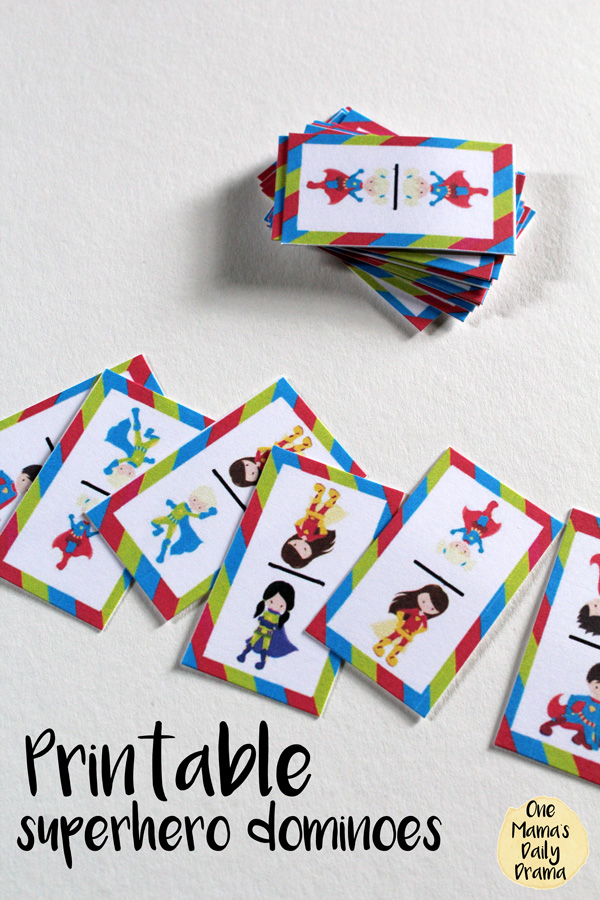 Printable Superhero Dominoes Game Printable Cards And Instructions