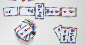 Printable superhero dominoes game for kids