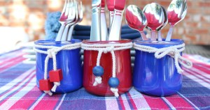 DiY silverware holder for cookouts