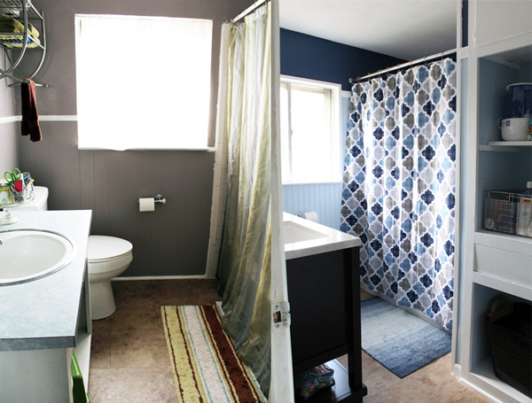 """bathroom remodel """"before"""" and """"after"""""""