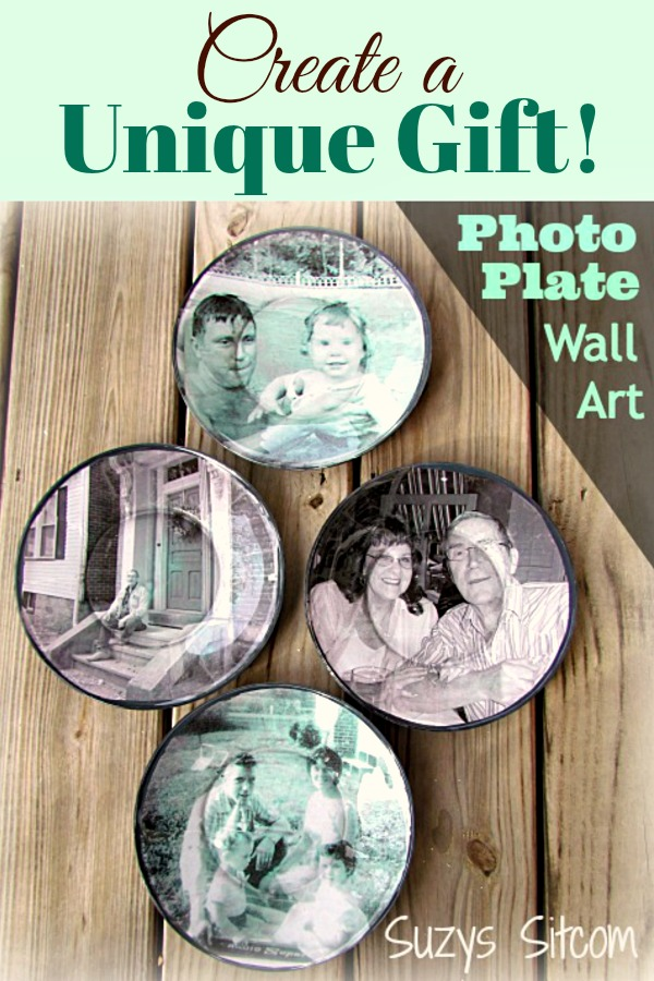Personalized photo plates handmade gift idea