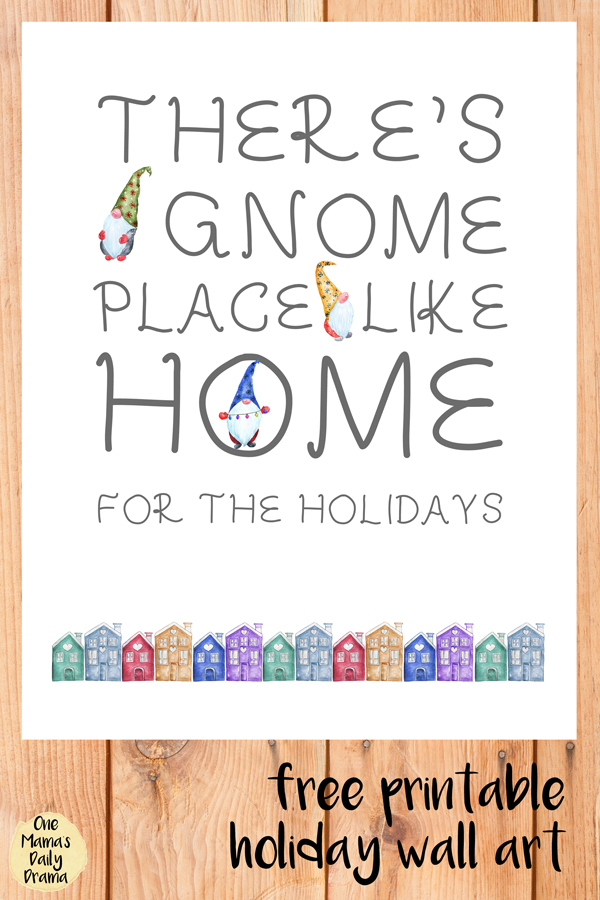 Add some simple Christmas cheer to your decor with this free Christmas gnome printable, featuring a pun on a popular holiday tune.