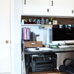 Home office organization: closet before and after