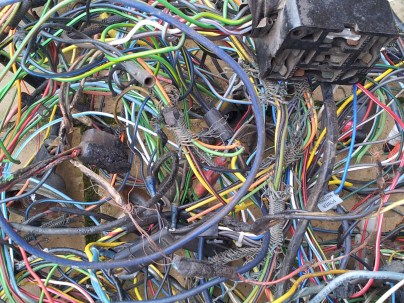 Original burnt out wire loom