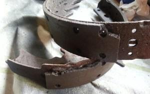 left rear damaged shoes