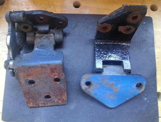 hinges before being taken apart