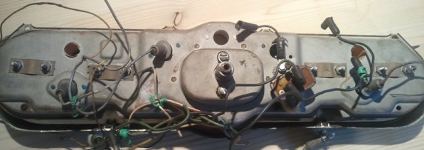 Back of dash for spot rust treatment