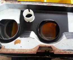 metal plate before rust treatment