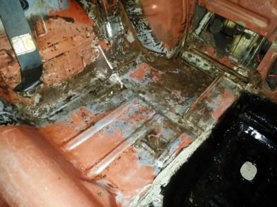 left side rust prep