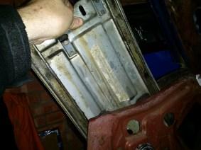 removing the rail frame