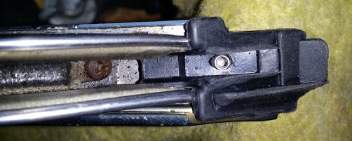 rivet ready for the tool