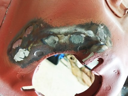 welds ground down