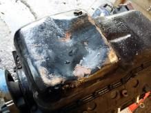 damaged oil pan