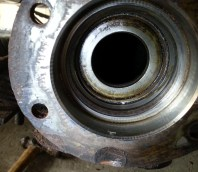 close up of the oil seal