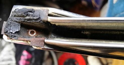 rivet in place