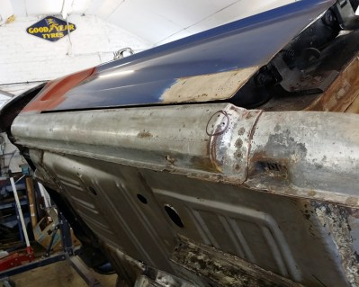 leading edge needs a tiny mig weld.