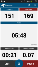 Cadence, heart rate and pace