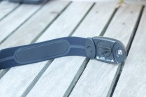 The back and connection area of the HR strap
