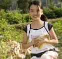Chinese Girl with Donated Duck