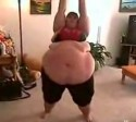 Fat Woman Exercising