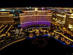 The Bellagio from the Eiffel Tower