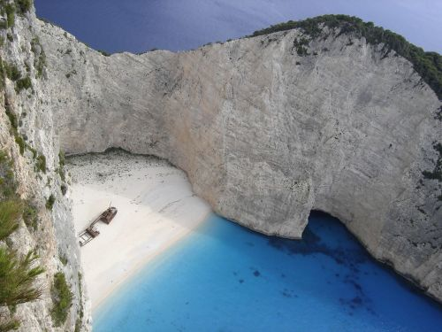 Navagio Beach on Zakynthos, Greece