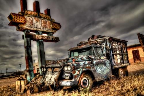 Abandoned Chevy Cartoon - sm