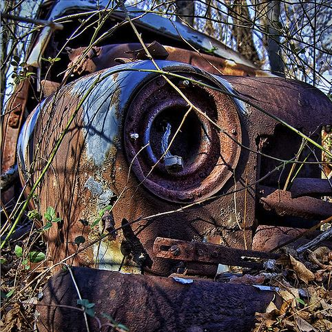 crushed and rusted