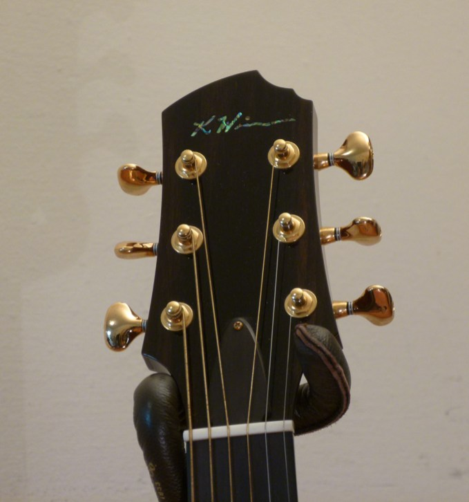 Kathy Wingert Model F Custom - headstock - guitar review at onemanz.com