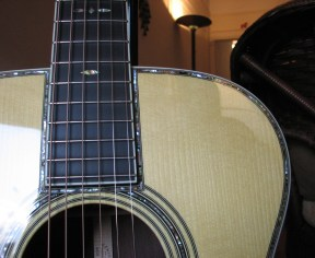 Martin OM-42 Deep Body review at One Man's Guitar onemanz.com high color abalone