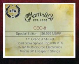 Martin CEO-8 NAMM tag