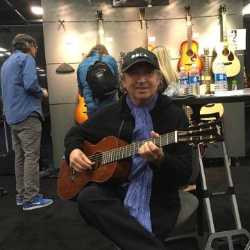 Andy Sommers NAMM 2017 Collings booth