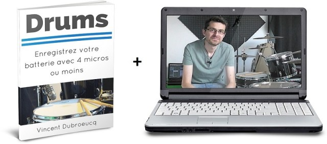 Drums - Enregistrer la batterie avec 4 micros ou moins - Ebook + vidéos