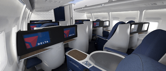 Delta Unveils New 757 200 BusinessElite Product One Mile