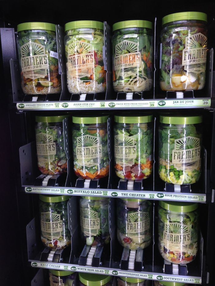 Would You Eat A Salad From A Vending Machine  One Mile