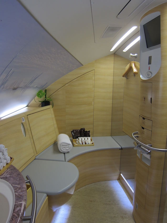 Guide To The Emirates A380 First Class Shower Suite  One