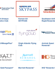 Chase ultimate rewards transfer partners also how to redeem korean air skypass miles one mile at  time rh onemileatatime