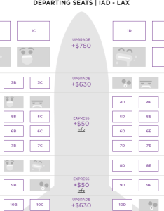Virgin main cabin select emergency exit seats for also an row seat on america costs how much one mile at  rh onemileatatime