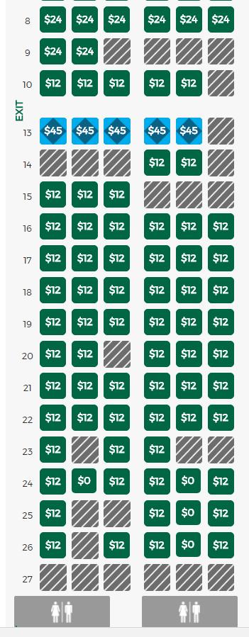 SeatGuru Seat Map Frontier