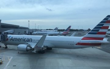 american airlines stock hits