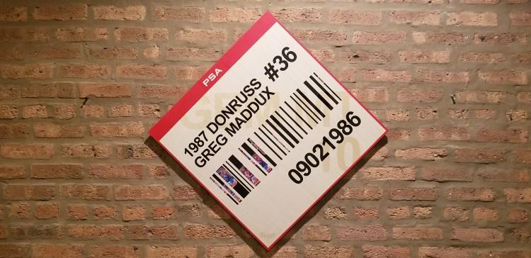 Matthew Lee Rosen, baseball card art, baseball card artist, Greg Maddux Rated Rookie Art