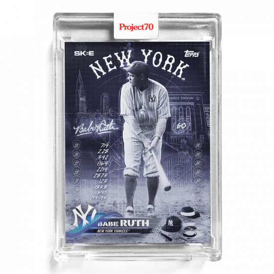 Topps Project 70 Babe Ruth baseball card by DJ Skee