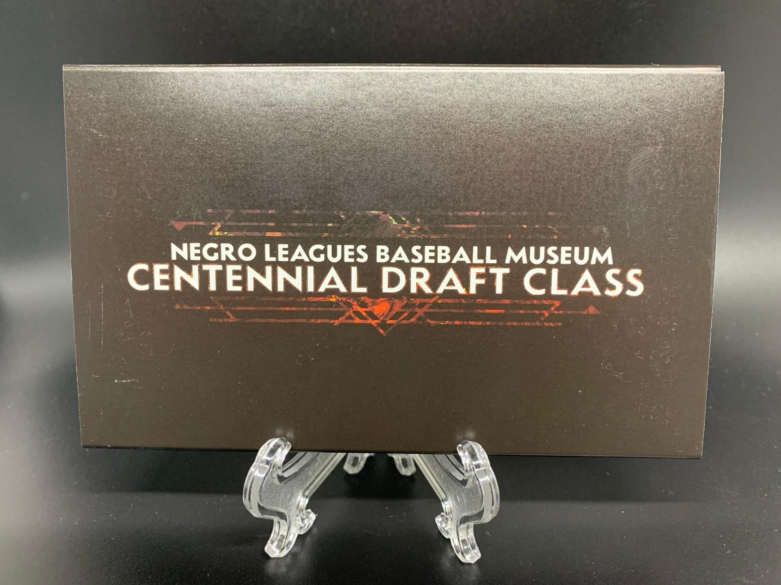 2020 Parkside Cards Negro Leagues Baseball Museum Centennial Draft Class Baseball Card Set