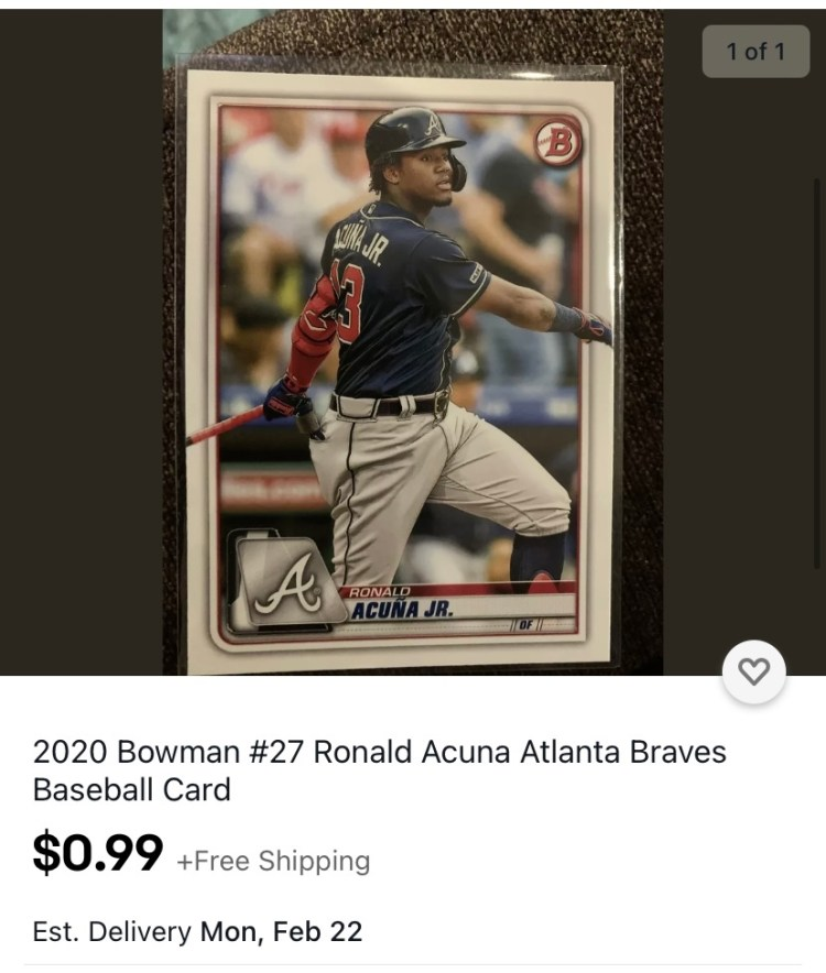 One Million Cubs Project Ebay Store offers cheap baseball card prices