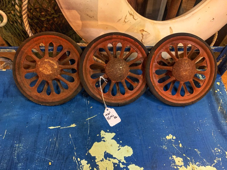 A Trio of Wheels:  An Afternoon of Antiques in Snohomish, Washington