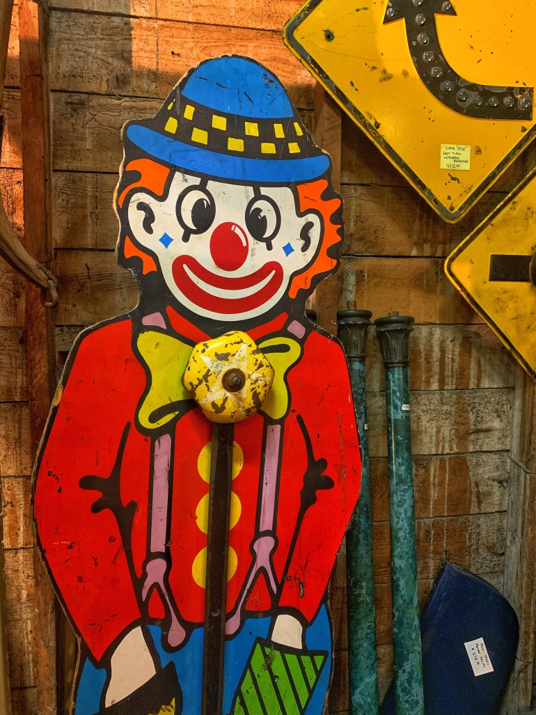 Clown Game:  An Afternoon of Antiques in Snohomish, Washington