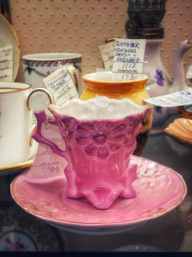 Pink Frills Cup and Saucer:  An Afternoon of Antiques in Snohomish, Washington