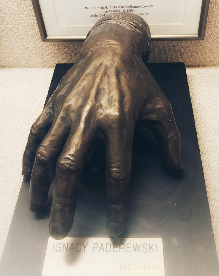 Ignacy Paderwski:  The Hand Collection at Baylor Medical Center in Dallas, Texas