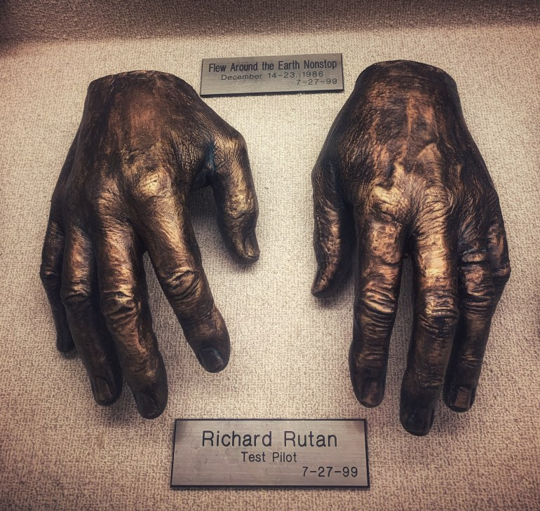 Richard Rutan, Test Pilot:  The Hand Collection at Baylor Medical Center in Dallas, Texas